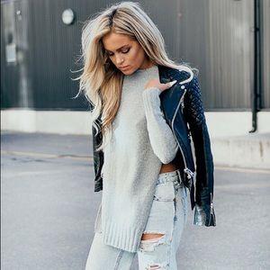 Zara side slits sweater